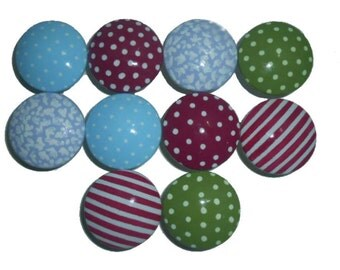 10 Girls Bunkhouse Hand Painted Drawer Pulls Knobs