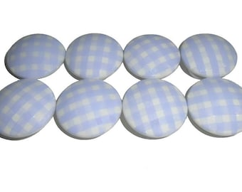 8 Custom Girls Lavender Gingham Hand Painted Drawer Pulls Knobs