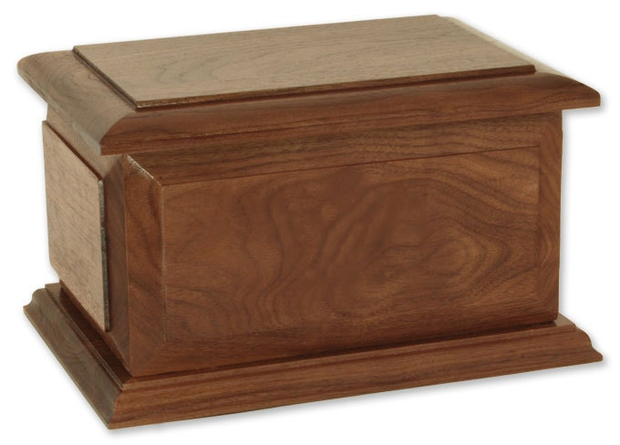 Boston Walnut Wood Cremation Urn