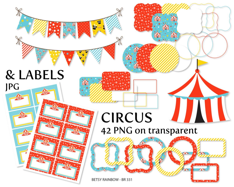 Vintage Circus Frame Clipart 52624 | TRENDNET