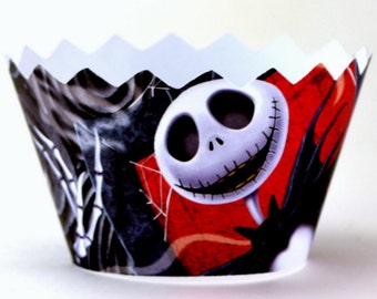 Skeleton Cupcake Wrappers