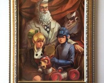 """8""""x10"""" Megaman Family Portrait Print"""