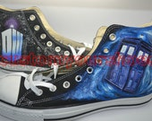 custom converse doctor who  converse handpainted shoes can do any theme you like