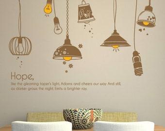 Wall Point Art Mural Decor Sticker  : Lamp, Modern style, Refined interior decor