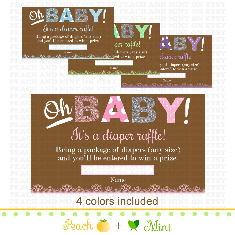 Diaper Raffle Ticket Printable Oh baby printable diaper