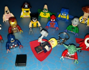 Hand Made USB Flash Drive 4gb, 8gb, 16gb, 32gb, made using any LEGO minifigure of your choice! Avengers, DC Comics etc.