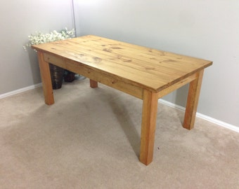 Farmhouse Table / Farm Table / Harvest Table (Golden Oak)