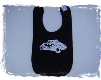 Hot rod baby bib