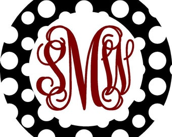 Monogram Decal, Car Monogram, Monogram Car Decal