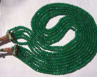 2.5 to 3.5 mm Natural Dyed Emerald Micro Faceted Rondelle full 14 inch strands AA Qyality-Afordable price