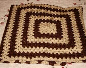 Granny Square Throw Blanket