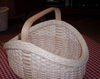 Hand Woven Garden Harvest Basket - Rolled Gretchen Rim - Easter Basket - Wedding Gift