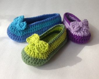 Crochet Pattern* Shoe with bow* for Girls* Double sole* newborn to 3yrs* PDF* *Instant Download Pattern # 436* + a gift *