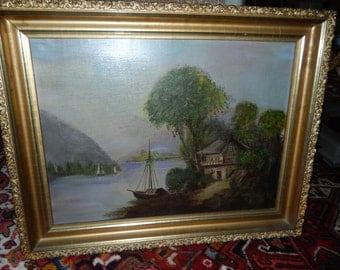 ANTIQUE JAPANESE OIL Painting