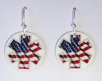 Firefighter EMS - EARRINGS - Custom Charm Earrings - Fun!!! Great Gift