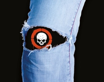 The easy way to fix your jeans...and a cool Skull Patch for your holey denim - made in the usa and totally retro