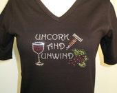 Uncork & Unwind Rhinestone Shirt