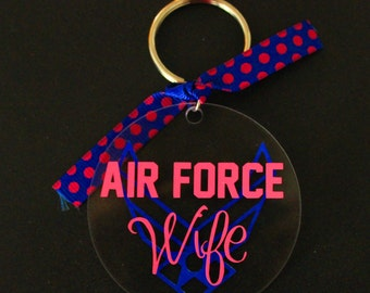 2inch Acrylic Keychain with matching ribbon