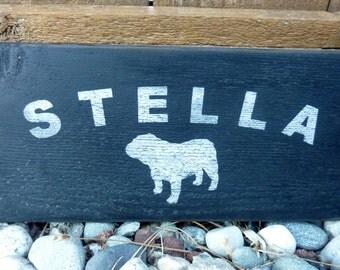 Personalized Pet Name Sign - Handpainted Wood Gift - Keepsake