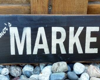 Vintage Farmer's Market Sign  - Kitchen Decor Wood Sign