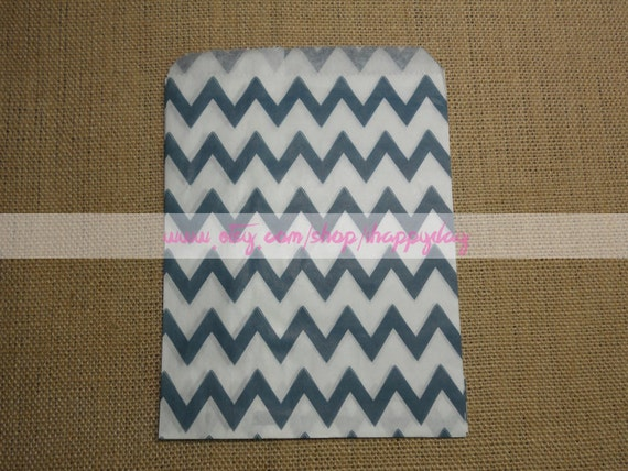 Navy Blue Chevron Paper Party Favor Bags 25 Navy  White Gift Paper ...