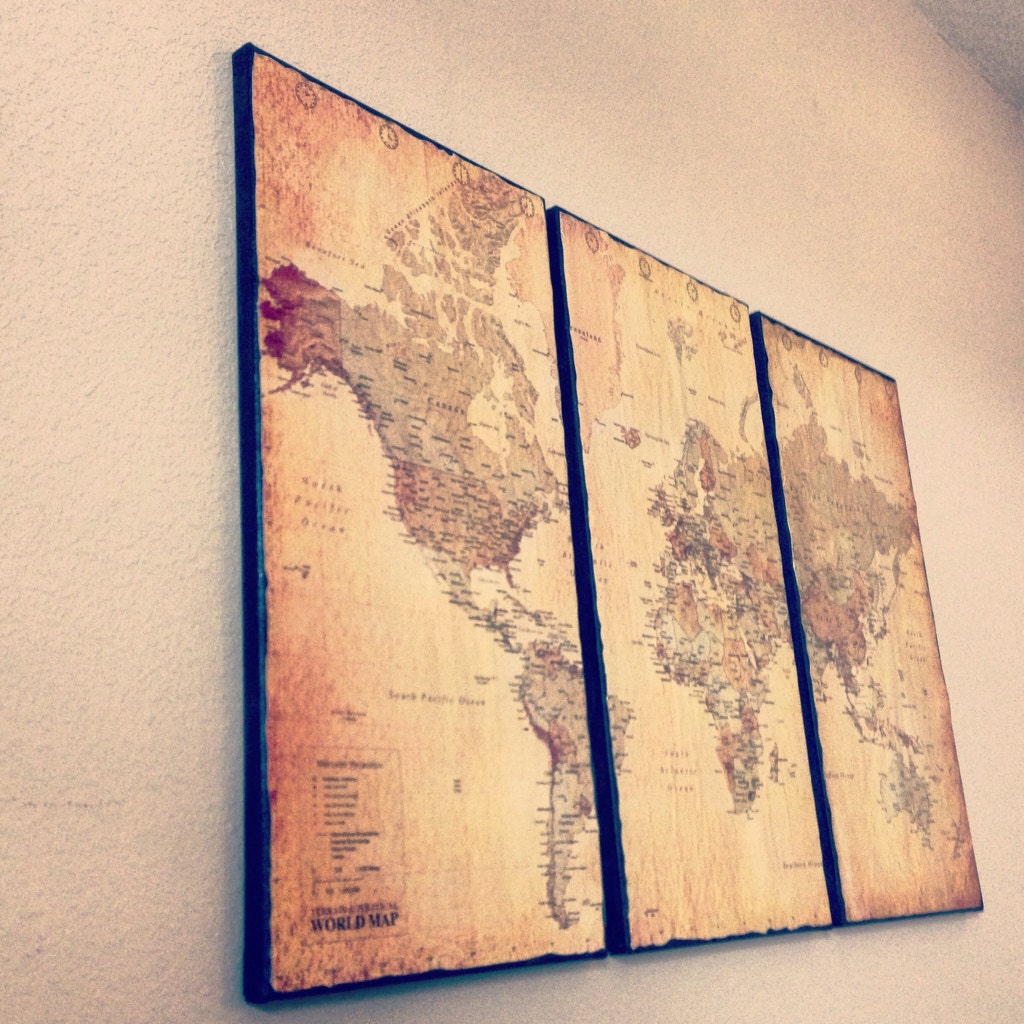 Vintage World Map On Canvas