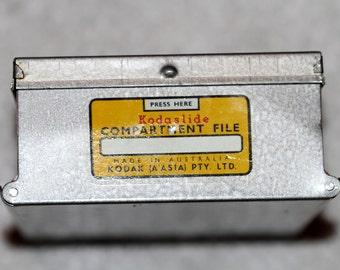 Kodaslide metal slide box compartment file index