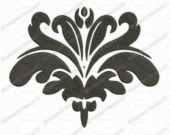 Fancy Beautiful Damask Pattern 2 Full Stitch Embroidery Design in 3x3 4x4 and 5x7 Sizes