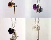 Charming, Hook, Henry, Snow Once Upon A Time Character Necklaces
