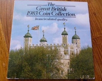 United Kingdom Royal Mint 1983 Uncirculated Coin Collection.Presented by Martini.