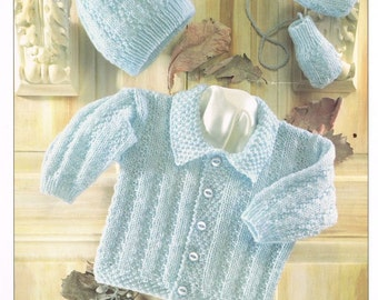 cable cardigan  baby knitting pattern PDF instant download