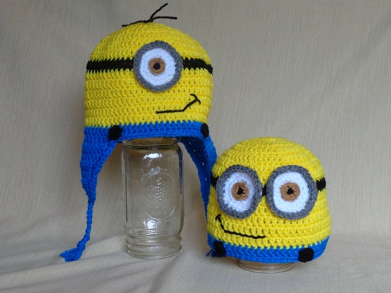 Crochet Minion Hat - Adult/Teen - Youth/Child - MADE TO ORDER
