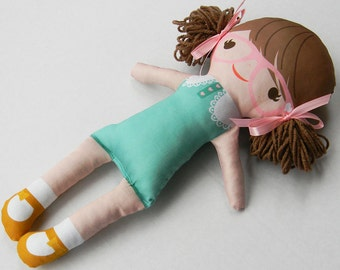 Organic Cotton Doll, Brunette - Lily