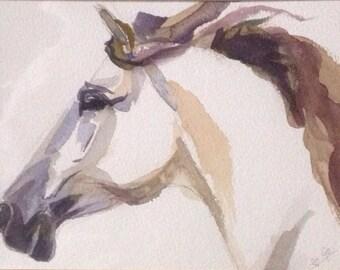 Horse 'Julia' original watercolor