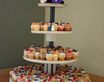 Extra-Large, Sturdy, Wooden Cupcake Stand