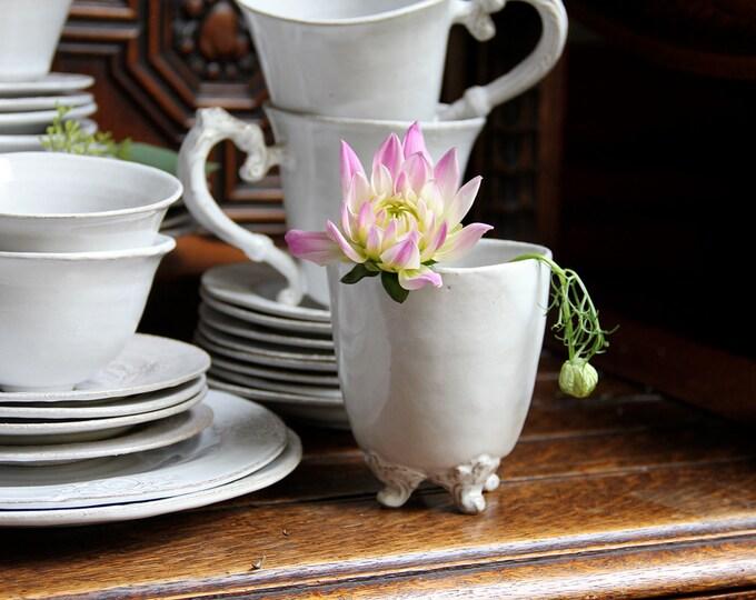 Handleless Footed Mug/Vase