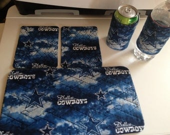 Dallas Cowboy Inspired Quilted Mug Rug Set
