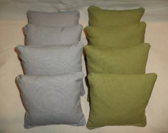 Cornhole bags Olive and Grey corn hole bean bags 8 ACA Regulation Gray bean bags