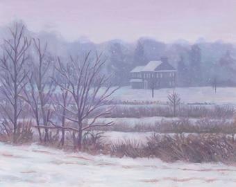"Giclee Print  ""Hopkins House"", New Jersey"