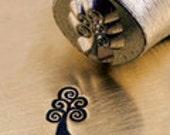 SWIRL TREE Metal Stamp, Tree Design, ImpressArt 6mm, for DIY Jewelry, Tree of Life Stamp