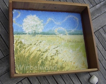 Motif drawer with Original acryl painting - Plain of Grass (18 x 15 x 4 cm, outside measurements)