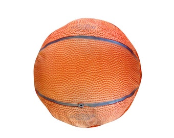 Baskekball round dog bed. Dogzzzz tired of the same old plaids and stripes brings the rugged outdoors in makes it fun.Free shipping!