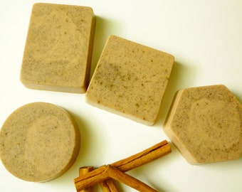 Cinnamon Shea Butter Soap - Cinnamon Soap - Handmade - Set of 4
