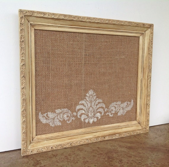framed cork bulletin board vintage inspired by