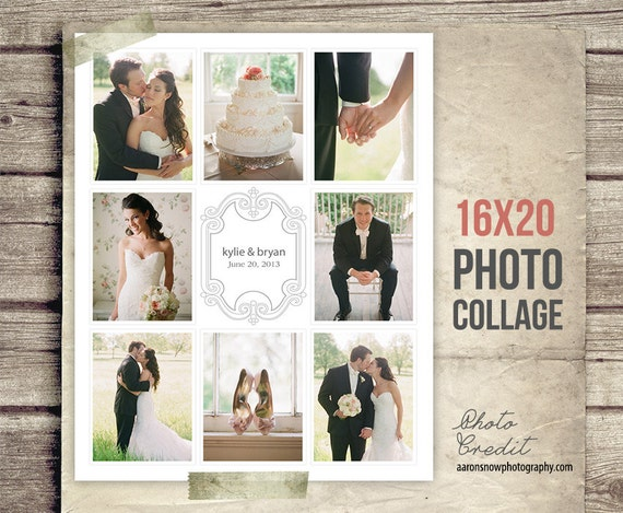 Wedding collage blog board wedding photo collage poster etsy image 0 maxwellsz