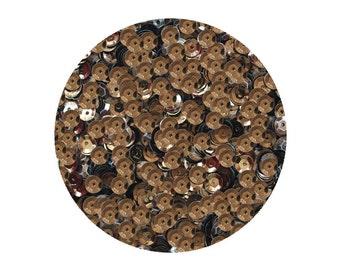 5mm Cup Sequins Deep Chocolate Brown Metallic