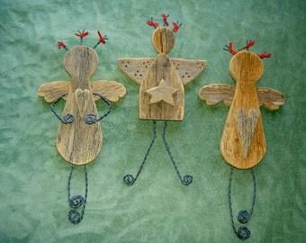Angels, Wooden Angels, Christmas Angels, Ethnic Angels