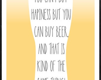 Beer / Poster / Wall decor / Printable / Instant download