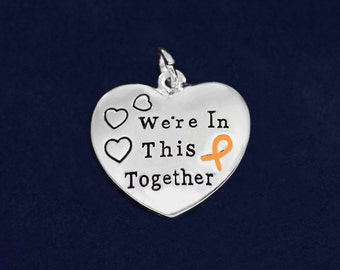 25 Orange Ribbon Awareness Charms  (25 Charms) (CHARM-82-5)