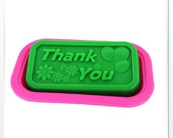 Thank You Mold Cake Mold Mould Silicone Mold Biscuit Mold Chocolate Mold Soap Mold 2pcs